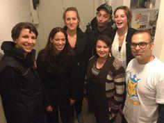 Wrap shot after Day 1 of shooting | #ImprovFilmProject | http://fb.me/ImprovFilmProject (left to right: Juliane Block, Nina Tratz, Luise Schnittert, Twan Melssen, Alexandra Von Der Heyde, Ella Nut, and Xavier Agudo).