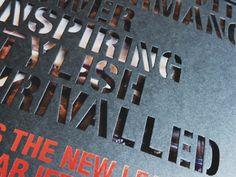 Diecut Typography by Elizabeth Gilmore on Dribbble
