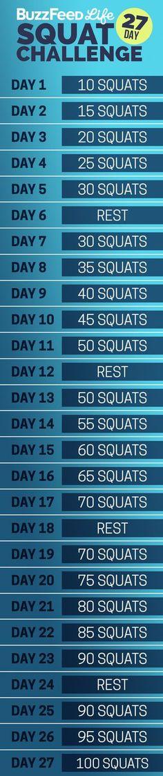 Die gute alte Squat Challenge