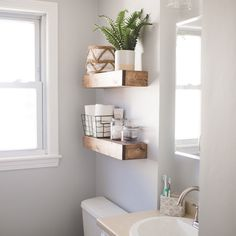 Rustic Floating Shelves, Floating Shelf, Wooden Shelf, Nursery Shelf, Bathroom Shelf, Kitchen Shelf, Gifts for Her, Country Chic by TheCleansedPallet on Etsy https://www.etsy.com/listing/257741089/rustic-floating-shelves-floating-shelf