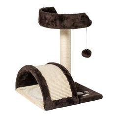 GOOD LIFE Small Cat Tree stand Scratching Post Kitten Toy Bed with Integrated Play House Tower Coffee and Beige >>> You can find more details by visiting the image link. (This is an affiliate link) Small Cat Tree, Cat Exercise, Kitten Toys, Cat Towers, Scratching Post, Bed Furniture, Life Is Good, Pet Supplies, Cat Beds