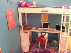 American Girl Doll house bedroom!