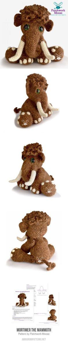 Mortimer the Mammoth amigurumi pattern