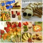 20 Snacks Involving Fruits or Veggies that Your Kids WIll EAT!