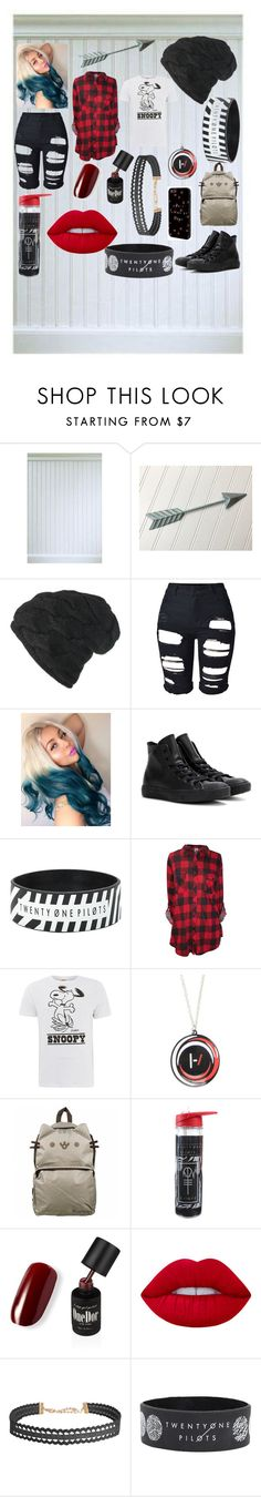 """clique"" by cooberrrr ❤ liked on Polyvore featuring Black, Converse, Tsptr, Pusheen, Lime Crime and Humble Chic"