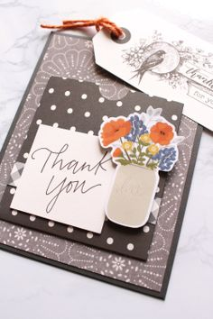 Thank You Cards featuring the Pocket Punch Board by Kimberly Crawford for We R Memory Keepers Tags Ideas, Thankful Heart, We R Memory Keepers, Punch Board, Card Tags, Board Ideas, Thank You Cards, Card Making, Boards
