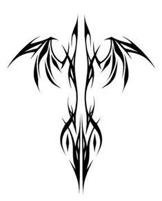 Phoenix tribal – Tattoo World Back Tattoos, Star Tattoos, Body Art Tattoos, Tattoo Drawings, Tattoos For Guys, Wing Tattoos, Sleeve Tattoos, Tatoos, Dragon Tattoo Designs
