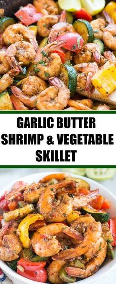 Easy Garlic Butter Shrimp and Vegetable Skillet