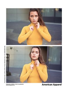 The Cotton Spandex Jersey Long Sleeve Turtleneck in Mustard Seed by #AmericanApparel.  #Fall #longsleeve #turtleneck