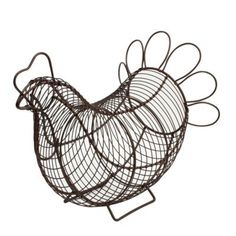 Country Kitchen Style Provence Chicken Shaped Egg Basket #kitchen #chicken #storage #eggs #baking www.prettymaison.co.uk 01353 665141