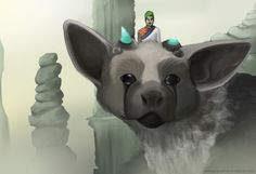 angelicarts: just wanted to paint my new favorite game and let's not forget Jack who's commentary makes it even better and greater to watch.  also Trico is hella cute. therealjacksepticeye: So good! :D thank you!