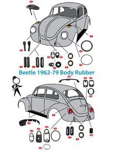 Body Rubber Kit, Bug Sedan & CV