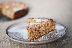Fotorecept: Kokosovo-orechový hruškový koláč bez múky
