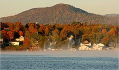 Lake Champlain, Vermont.  I was there in the summer, but I know it would be amazing to go in the fall!