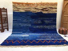 Stunning Blue 9.1ft x 10.8 ft Moroccan Handmade Organic Wool Blue beni ourain rug Genuine Beni ourain Tapis berber rug alfombras berberes