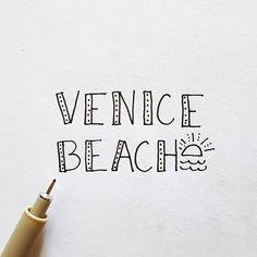 This weekend I spent a day exploring Venice Beach. It's an awesome place to go and see all walks of life and AMAZING street art. Go check it out, kids! × × × #venicebeach #veniceboardwalk #ontheboardwalk #losangeles #losangelescounty #california #visitcalifornia #explorecalifornia #calilove #calilife #typography #quicktype #handlettering #designer #practicehandlettering #creativeprocess #createeveryday #weekendfun #weekendtypography #micron #etsyshopowner #etsyart #suddenlysimpleco…