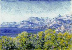 Vista de Ventimiglia - View of Ventimiglia  Monet, Claude    Óleo sobre tela | (1884)    Kelvingrove Art Gallery and Museum | Glasgow -    Dimensões da obra: 91.7 x 65 cm