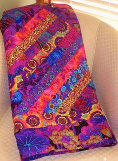 The SIZZLER--Purple, Blue, Magenta & Gold Kaffe Fassett Fabrics - love these colors