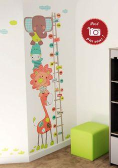 Vente Toise déco enfant et cadres photos - Ma toise à câlins - Autocollants muraux par Bérengère