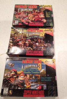 Super Nintendo Box With Donkey Kong