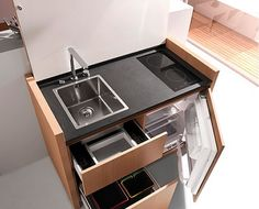 Compact kitchen K1 by Kitchoo --- perfect for dorm room/studio apartments