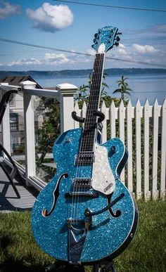 Custom painted Gretsch Hot Rod 6120 with blacktop pickups.