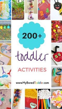 Toddler Activities To Do At Home Toddler Activity Ideas Galore! So many great toddler ideas, toddler crafts, toddler activities, toddler sensory play, toddler indoor activities and toddler outside activities. Toddler Learning, Toddler Fun, Toddler Preschool, Toddler Crafts, Crafts For Kids, Toddler Teacher, Toddler Activities Daycare, Art Projects For Toddlers, 3 Year Old Preschool