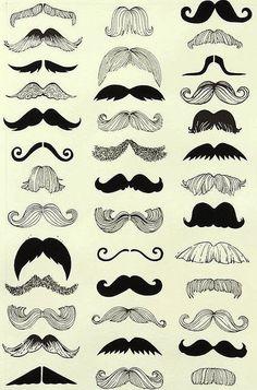 Bigodes. Moustaches