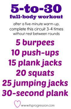 Full body circuit workout
