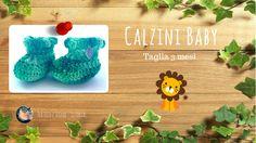 Tutorial - Calzini Baby (taglia 3 mesi)  #uncinetto #per filo e segno #calzini baby #calzini neonato #crochet #crochet socks #crochet shoes #crochet booties