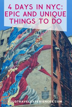 4 days in NYC: epic and unique things to do Travel Advice, Travel Ideas, Travel Tips, Disneyland Tips, New York City Travel, New York Photos, Freaking Awesome, United States Travel, Usa Travel