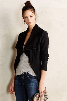 Cole Suede Waterfall Jacket #anthropologie