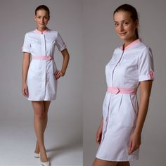 Spa Uniform, School Uniform Outfits, Scrubs Uniform, Medical Uniforms, Work Uniforms, Doctor Scrubs, Beauty Uniforms, Blouse Nylon, Fajardo