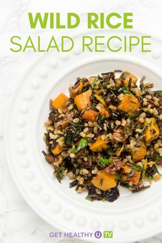 Check out this healthy recipe for wild rice salad! Looking for a side dish that's healthier than traditional potato salad or pasta salad? This healthy wild rice salad is full of protein and made with just a handful of simple ingredients. Watch this short video to see how to make wild rice salad in a few easy steps. All you'll need is some wild rice, dried cranberries, raisins, walnuts, mandarin oranges, and a few other ingredients to make this healthy dish come together in a pinch.