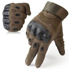 Best Tactical Gloves: 6.JUISY Military Rubber Hard Knuckle Tactical Gloves Full Finger Cycling Motorcycle Gloves