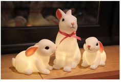 Woodland Rabbit night lights #bunnyinabow