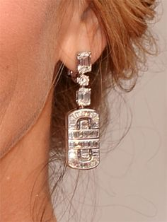 Oscars 2014 Jewelry - JULIA ROBERTS BULGARI earrings - These were AMAZING in motion. I can't find them online - but I want them just the same. My guess is $20k or more. Those are big diamonds and lots of them....
