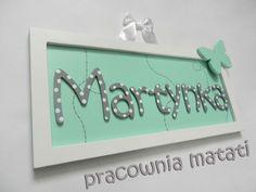 drewniane dekoracje, drewniana tabliczka, tabliczka z imieniem, matati, pracownia matati, handmade, made with love, martynka