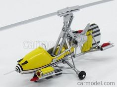 EDICOLA BONDCOL DG001 Skala: 1/48  GYROCOPTER LITTLE NELLIE 1967 - HELICOPTER YOU ONLY LIVE TWICE YELLOW GREY Skala:: 1/48 Zustand: MB Code: BONDCOL DG001 Farbe: YELLOW GREY Material: Die-Cast