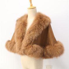>> Click to Buy << Free shipping  child real  fox fur trim  length 40cm for age3-5 cashmere shawl #Affiliate