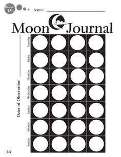 Here's a page for students to keep a journal on the phases of the moon. (Supplement to the September 2008 issue of Science and Children.)