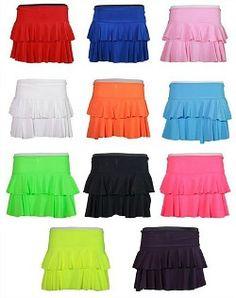 80s Style Ra-Ra Skirts - 2 tier