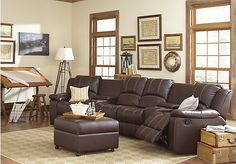 Living Room Sets With Hdtv foster square graphite 3 pc sectional living room | chic & modern