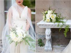Cuneo Mansion wedding photographer-19 cascading bouquet