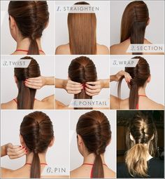 Wrapped Pony - 15 Ways to Make Cute Ponytails