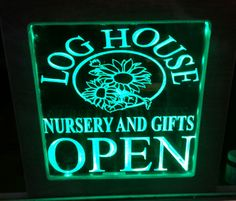 a edgelit sign i made for the local nursery with my cnc