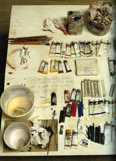 cy twombly studio  from artists at work by david seidner