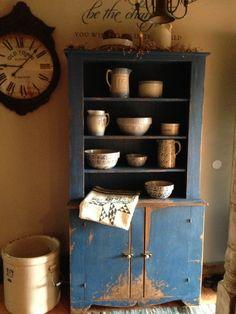 Primitive stepback cupboard in my foyer