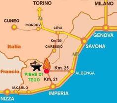 Dove ci troviamo:Pieve di Teco (IM) - ITALIA Where we are: Pieve di Teco (IM) - ITALY Où sommes-nous: Pieve di Teco (IM) - ITALIE Wo wir sind: Pieve di Teco (IM) - ITALIEN Dónde estamos: Pieve di Teco (IM) - ITALIA