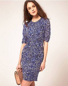 Whistles Bella Bodycon Dress in Multipetal Print - Must find!